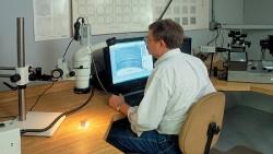 Microscopic metal test