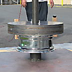 Drop weight test on tire rims