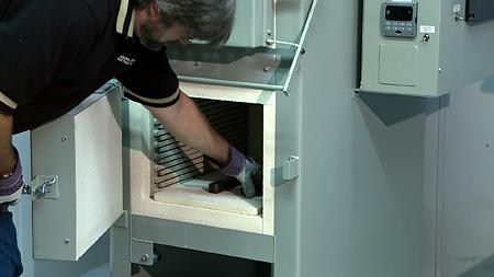 Heat treating test samples