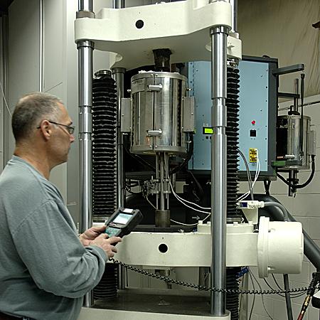 Elevated temperature tensile testing