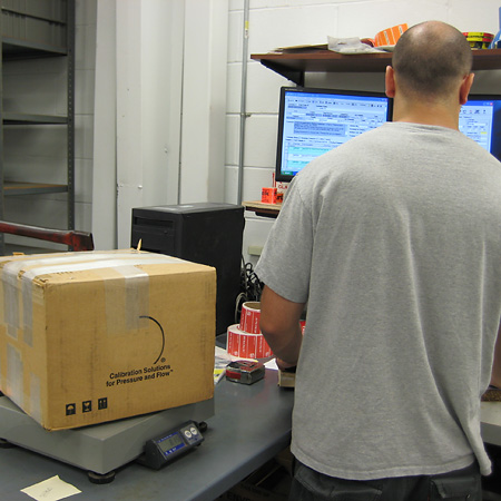 Weighing return shipment