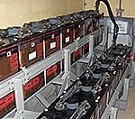 Batteries in nuclear plant