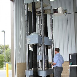Tensile test to 600,000 lbs.