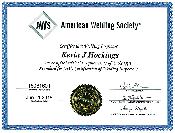 AWS Certified Welding Inspector | Laboratory Testing Inc.